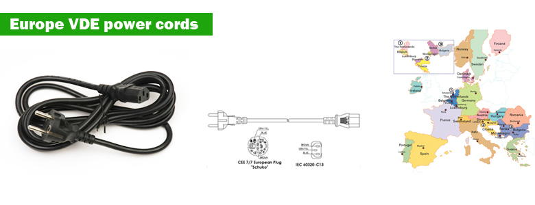 Europe VDE power cords