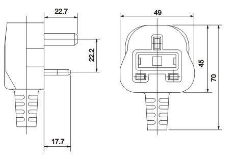 British Uk Plug With Fuse Y006a Manufacturer Supplier