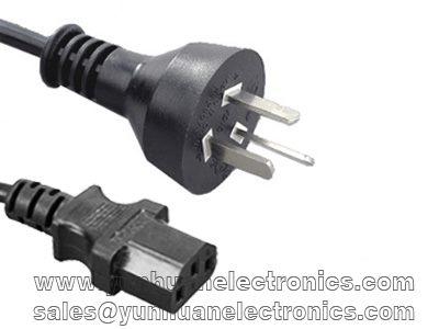 Argentina Cord Set IRAM 2073 Plug to  IEC 60320 C13 10a/250v