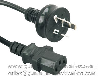 Australian SAA Computer/Monitor Power Cord AS/NZS 3112 to IEC 60320 C13