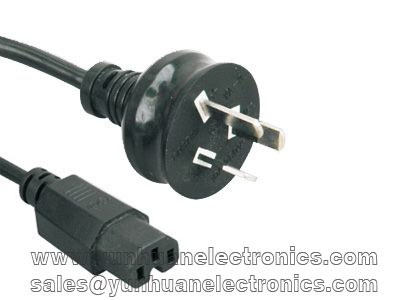 Australian SAA electric plug AS/NZS 3112:2011 to IEC 60320 C15  10A 250VAC