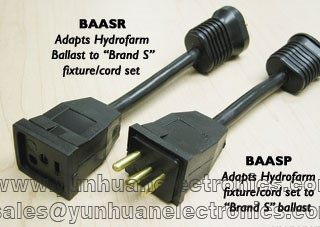 BAASP Lamp Cord Adapter - Sun System Ballast to  Reflector FT-5Z