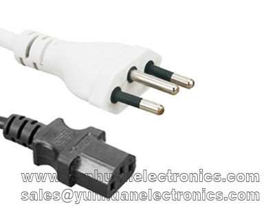 Brazil computer/monitor NBR 14136 plug to IEC 60320 C13  10A/250V