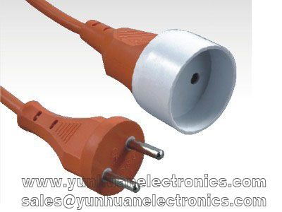 CEE 7/7 (Std.Sht. XVII) IEC 60884-1 MALE TO FEMALE EXTENSION CORD