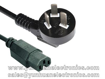 Chinese CCC power plug GB2099.1 to IEC 60320 C15  10A 250VAC