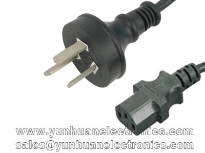 GB2099 1.0C1398 Power Cord China GB2099 Male Plug to IEC60320-C13 Female
