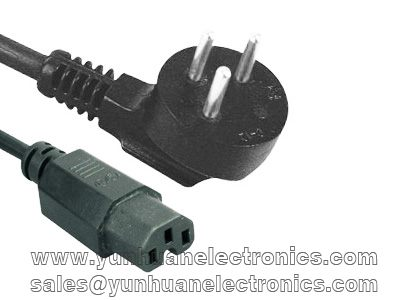 Israeli ac power cord SI-32 SII approval to IEC 60320 C15 10a/250v