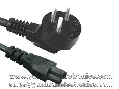Israeli power supply cord SI-32 SII approval to IEC 60320 C5 2.5a/250v