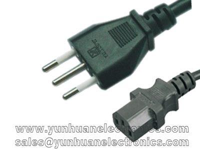 Italian IMQ Cord Set CEI 23-50 S11 Plug to IEC 60320 C13 10A/250V