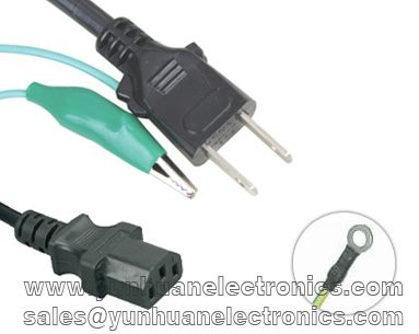 Japanese Computer/Monitor Power cable JIS C 8303 Class I to C13 PSE Approved