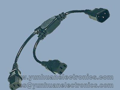 SPLITTER CABLE 1 TO 2 outlets VDE UL APPROVAL