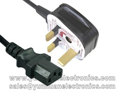 UK detachable  plug BS 1363 to IEC 60320 C13
