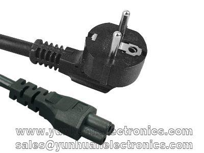 VDE Netzkabel Schukostecker auf IEC 320-C5 Buchse 2.5A/250VAC